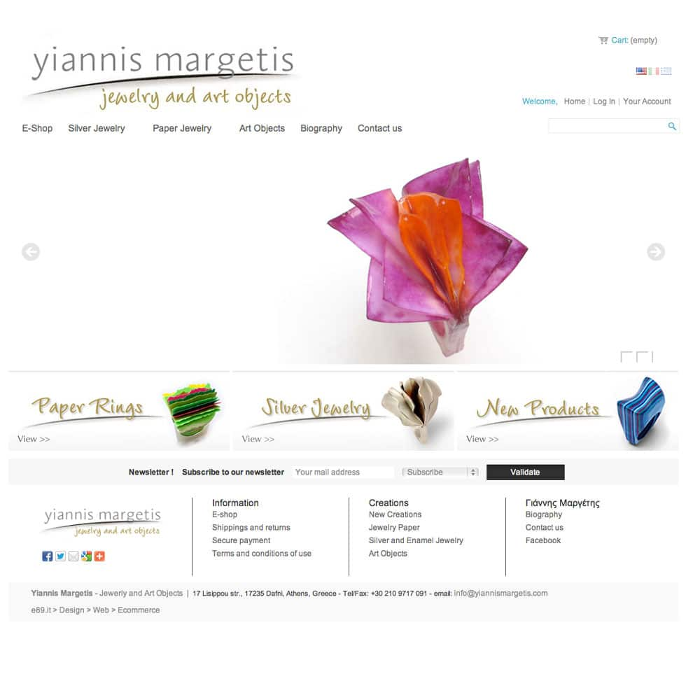 Yiannis Margetis | Jewelry and Art Objects