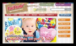Realizzazione siti e commerce per negozi on line: FaiFesta.it | Articoli per Feste | Coordinati tavola | Piatti plastica | Addobbi | Palloncini - FaiFesta | Articoli per Feste e Party