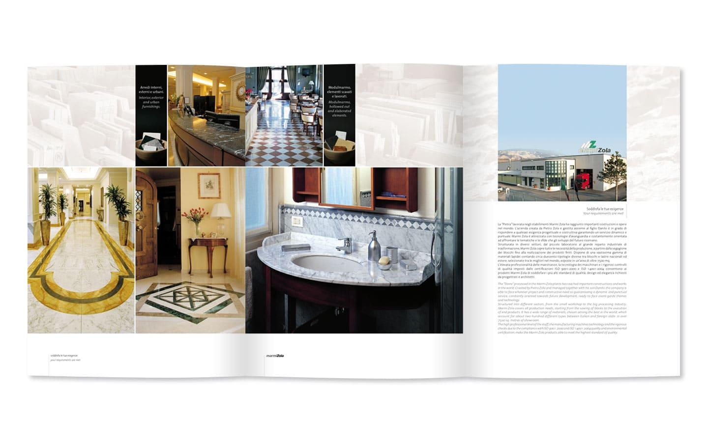 Realizzazione Brochure Aziendale Marmi Zola