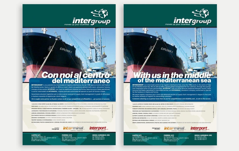 intergroup Gaeta campagne pubblicitarie