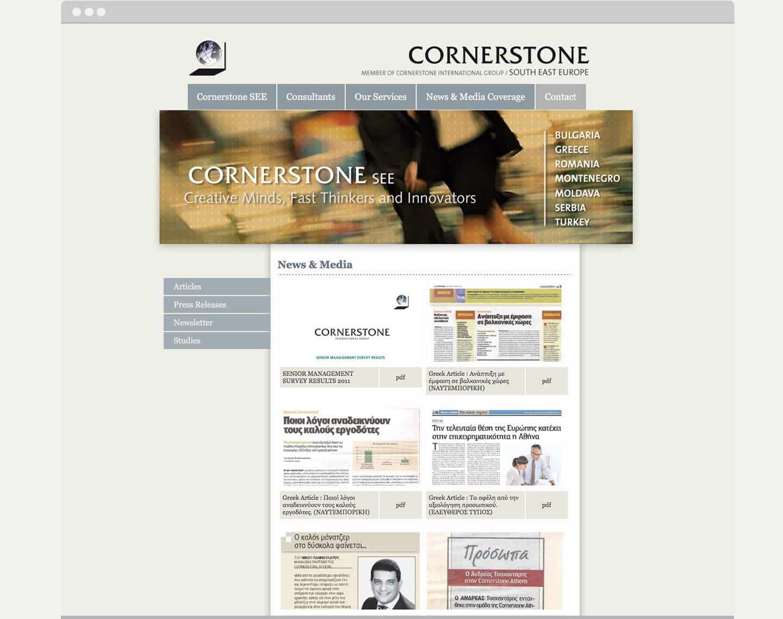 realizzazione sito web Cornerstone Athens