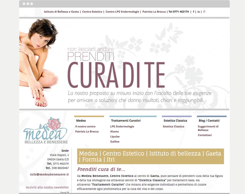 Realizzazione sito web centro estetica Medea Gaeta Latina