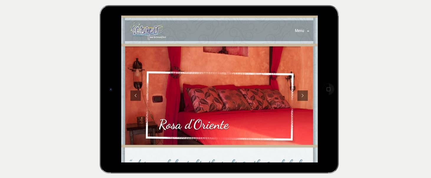 realizzazione sito hotel bed and breakfast Serapobb Gaeta Latina