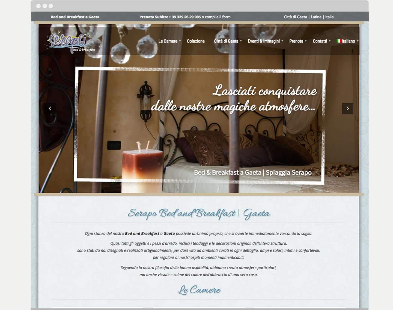 realizzazione sito hotel bed-and breakfast Serapobb Gaeta