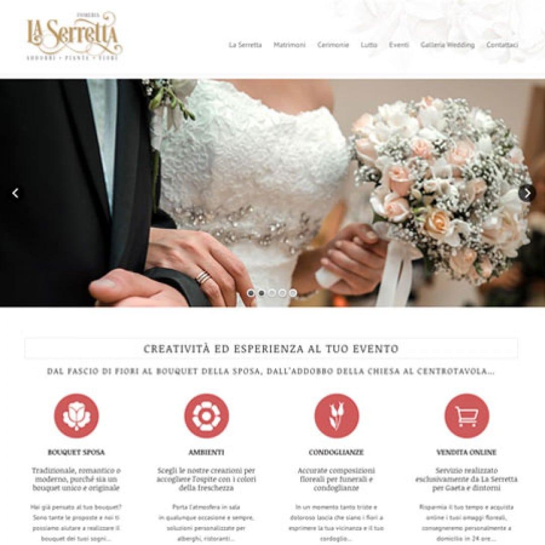 Realizzazione siti web per la vendita di fiori e servizi Wedding