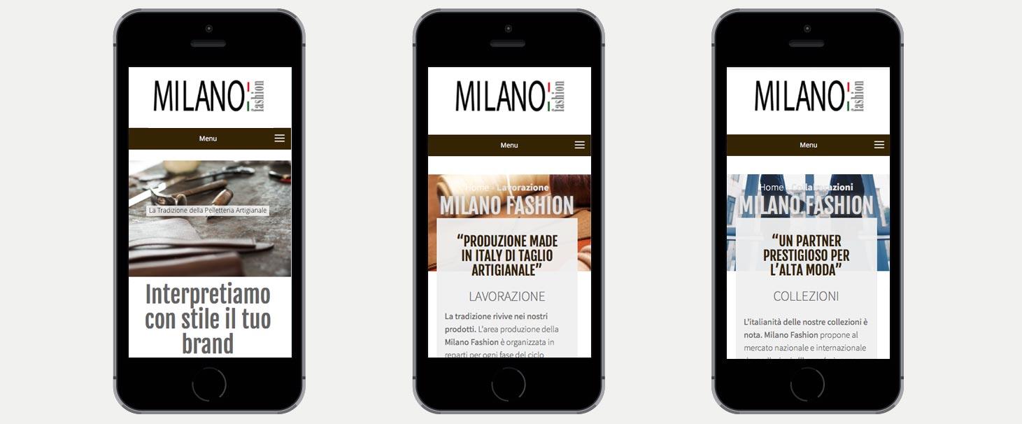 realizzazione sito web milano fashion