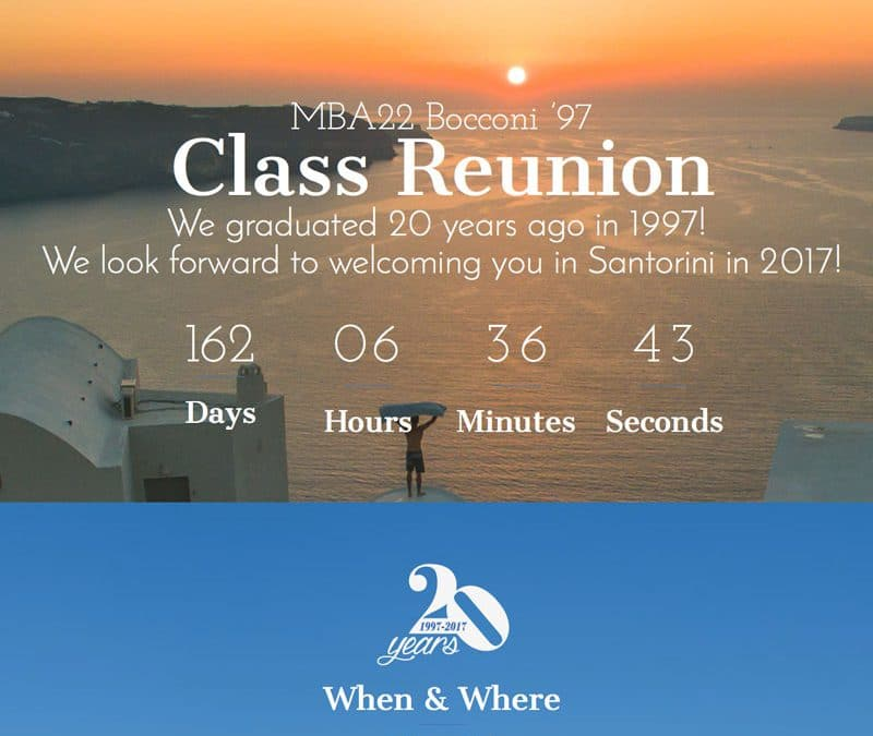 MBA22 Bocconi Reunion | Milano Santorini | Class Reunion