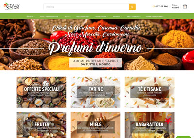 Italia Spezie | Sito E-Commerce Food