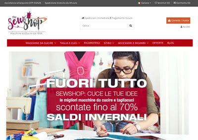 Sewshop | Sito Ecommerce | Vendita Elettrodomestici